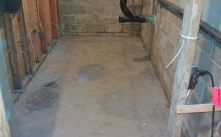 time to clean up repair and re seal the storage room in the basement, basement ideas, cleaning tips, concrete masonry, wall decor, Cleaned out ready for action