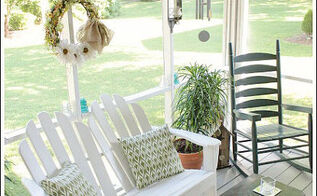 decorating a porch with burlap ribbon, home decor, outdoor living, porches, One of my favorite places in the world