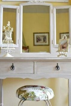 a vintage bedroom reveal, bedroom ideas, home decor, I found this beautiful vintage vanity which was the perfect addition to her room