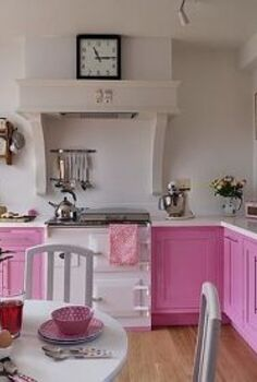 home decorating ideas don t overthink it, home decor, kitchen design, painted furniture, Decorating a Kitchen with Pink