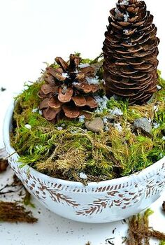 how to make a winter pine cone terrarium, crafts, seasonal holiday decor, terrarium