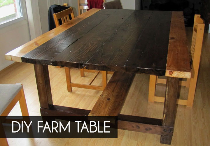 Diy farm table from reclaimed lumber hometalk for 12 person farmhouse table
