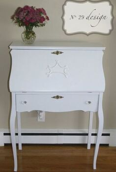 repainted secretary desk, painted furniture