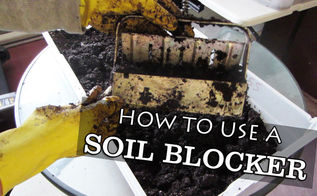 using a soil blocking tool for easy seed starting, container gardening, gardening, tools, Seed blocking tools are becoming popular I use mine for all my indoor seed starting