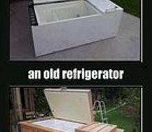 repurposed refrigerator, appliances, repurposing upcycling