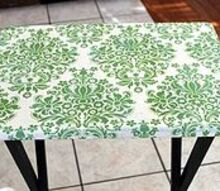 upcycle an old tv tray into a craft table, crafts, decoupage