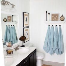 diy coastal bathroom, bathroom ideas, home decor, DIY coastal bathroom
