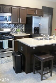 painted kitchen cabinets, kitchen cabinets, kitchen design, painting, After