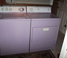 my purple washer dryer, appliances, painting