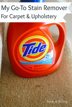 great stain remover for carpet upholstery, cleaning tips, reupholster, Laundry detergent is the first thing I grab if there s a spill or stain on my carpet or upholstery