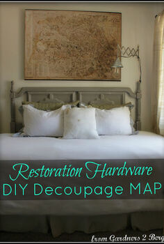 restoration hardware decoupage map knock off, crafts, decoupage, home decor, Make your own Restoration Hardware DIY decoupage PARIS Map