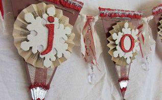diy christmas banner, christmas decorations, seasonal holiday decor