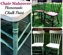 homemade chalk paint chair makeover, chalk paint, painted furniture
