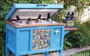 give dad the coolest father s day gift, diy, how to, outdoor living, This cooler stand is our new favorite patio accessory