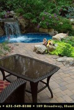 my favorite place enjoy the weekend, decks, gardening, outdoor living, patio, pool designs, spas, Raised patio spa and waterfall