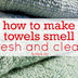 how to make your towels smell fresh and clean, cleaning tips