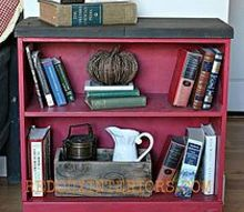 cheap bookshelf makeover using scrap wood and casters, painted furniture, repurposing upcycling, shelving ideas