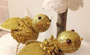 pine cone birds diy, crafts, seasonal holiday decor, What a great way to use pinecones and a wonderful activity to share with kids not only during the holiday but anytime during the winter