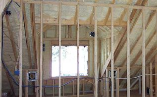 lowering your energy bills with spray foam insulation, home maintenance repairs, how to, hvac, walls ceilings, Spray Foam adheres to any size walls and ceilings