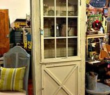 salvaged door into a cabinet, kitchen cabinets, painted furniture, repurposing upcycling, I love projects that involve bringing new life back to castoff items