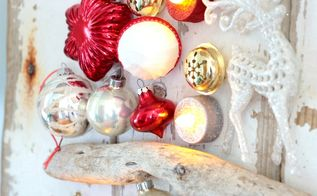 upcycled christmas tree craft idea inspired by real simple magazine, christmas decorations, crafts, repurposing upcycling, seasonal holiday decor, the LED lights are my favorite part