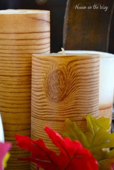 how to diy faux birch candles for 1 00, crafts, seasonal holiday decor, DIY Faux Birch Candles