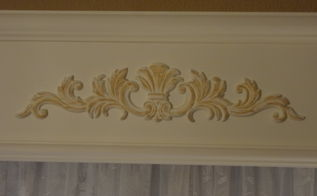 cornice boards, home decor, window treatments, Highlighted embellishment with dining room wall color