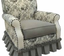 q die fabric on a chair, painted furniture, shabby chic, reupholster