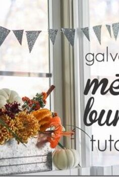 rustic thanksgiving table with galvanized metal bunting tutorial, painting, seasonal holiday d cor, thanksgiving decorations