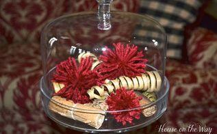 a pretty pom pom idea, crafts, home decor