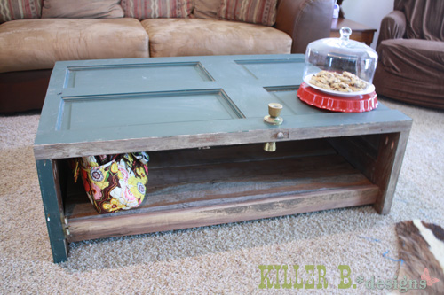 Reclaimed Door Coffee Table Doors Painted Furniture Repurposing Upcycling Woodworking Projects