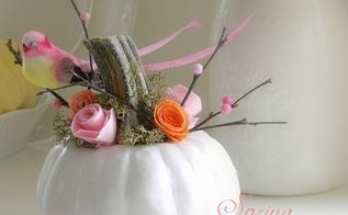 a spring garden pumpkin, crafts, halloween decorations, seasonal holiday decor
