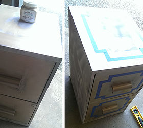glamorous file cabinet makeover painted furniture step 2 continued i found a new gold