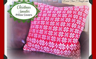 christmas sweater envelope pillow covers, christmas decorations, crafts, seasonal holiday decor