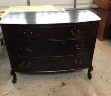 old dresser new live, painted furniture, New black beauty Love the Van Gogh colors