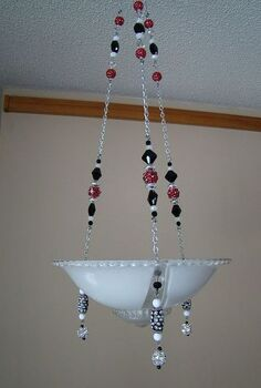 re purposed bling vintage ceiling light fixtures to make candle holders, home decor, lighting, repurposing upcycling