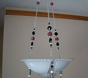 Re Purposed Bling Vintage Ceiling Light Fixtures To Make Candle Holders,  Home Decor, Lighting