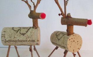 diy twig cork reindeer, crafts, seasonal holiday decor, wreaths, Easy to Make Twig Cork Reindeer