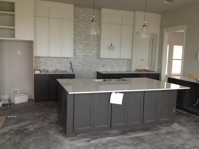 White And Gray Kitchen Countertops Kitchen Design Kitchen Island