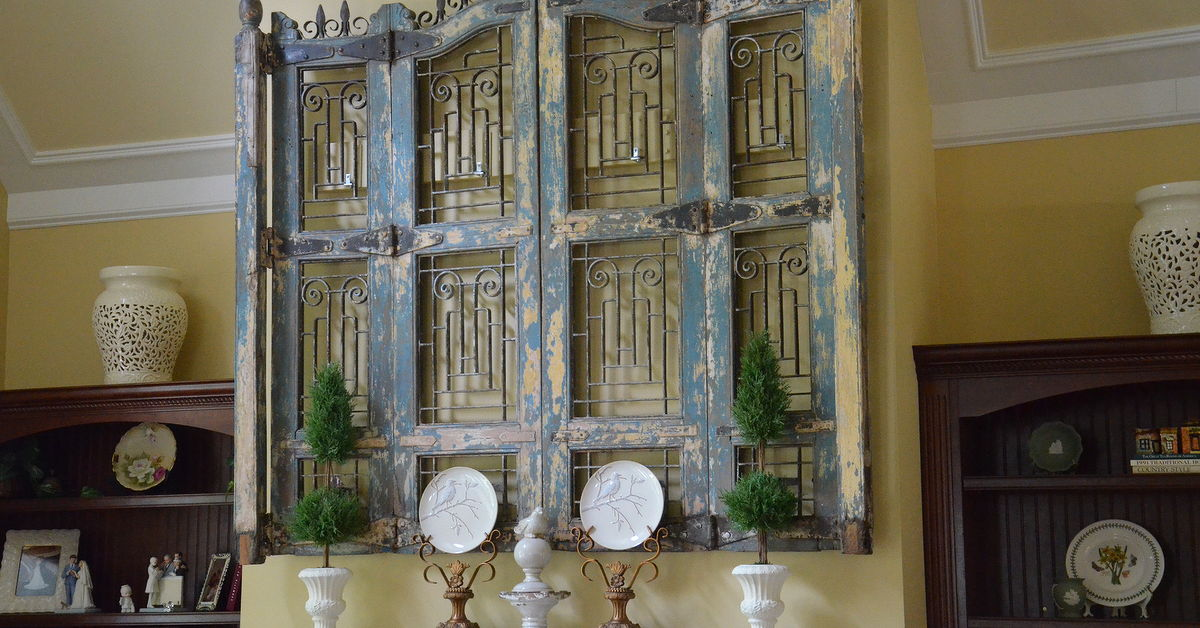 Antique Wood And Iron Shutters Hometalk
