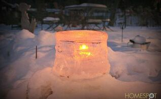ice candle holder for outdoor decor, seasonal holiday d cor, Ice candle holder