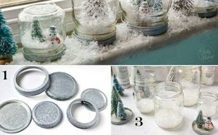 do a christmas decoration by yourself, crafts, seasonal holiday decor, Snow paperweight You have to take one jar little Christmas tree and fake snow It is very easy to doing one of these isn t it