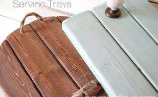 barnwood style serving trays, crafts, home decor, Barnwood style serving trays