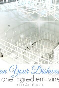 get a clean dishwasher with vinegar, appliances, cleaning tips, Get a clean dishwasher using one ingredient