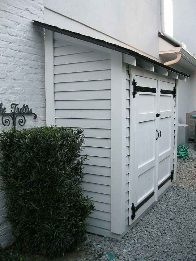 Small storage for along the side of a house hometalk for Side of the house storage shed