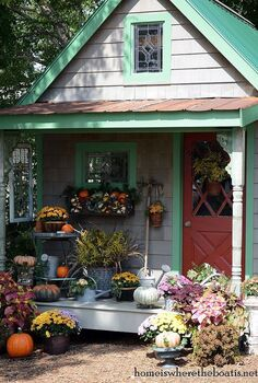 fall around the potting shed, flowers, gardening