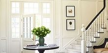 10 fail safe decorating rules, bedroom ideas, home decor, living room ideas, Black trim is a classic decorating tool that offsets almost any decor It makes your rooms look stylish and tailored A big black glossy door black trim curtain rods or painted furniture best of all you don t need alot