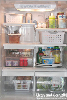 how to organize your fridge, organizing, Group similar items together and have a designated spot for each grouping