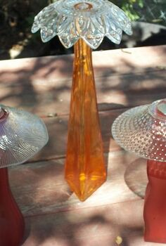 upcycled glass projects, repurposing upcycling, Fairy Umbrellas