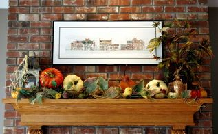 fall mantel, home decor, Autumn 2012 Hearth Room Mantel